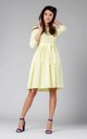 Yellow Flared Dress with Pockets Tied at Waist by By Ooh La La