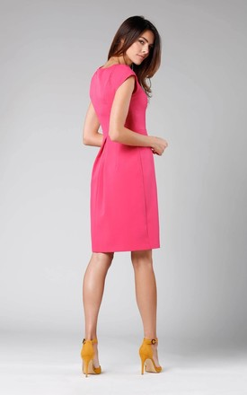 A-Line Sleeveless Dress in Pink by By Ooh La La
