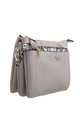 BEIGE CROSSBODY BAG WITH DETACHABLE SNAKE PRINT FRONT POCKET by BESSIE LONDON