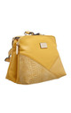 CROC PATCHWORK CROSSBODY BAG IN YELLOW by BESSIE LONDON