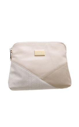 CROC PATCHWORK CROSSBODY BAG IN BEIGE by BESSIE LONDON