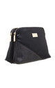CROC PATCHWORK CROSSBODY BAG IN BLACK by BESSIE LONDON