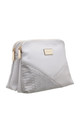 CROC PATCHWORK CROSSBODY BAG IN GREY by BESSIE LONDON