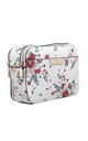CAMERA BAG IN WHITE FLORAL PRINT by BESSIE LONDON