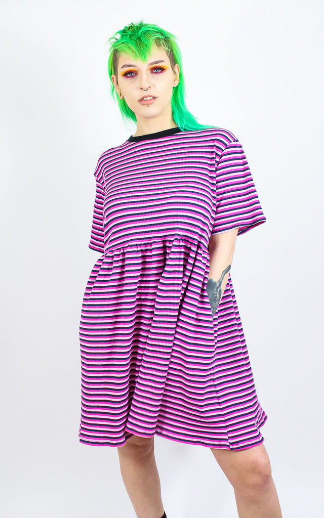 Pink Stripe Smock Dress by Tallulah's Threads