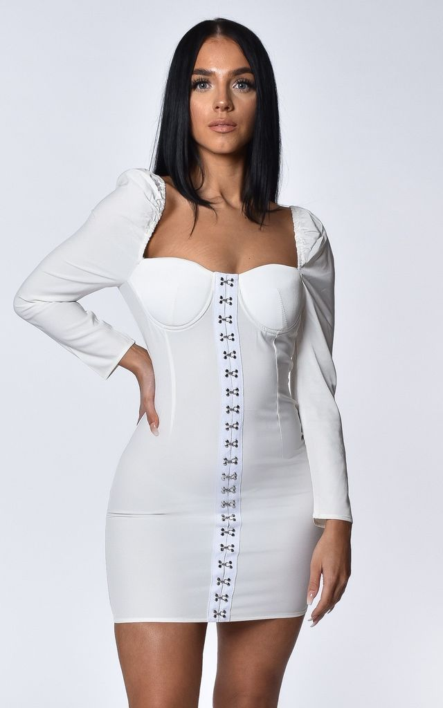Sophina White Mini Dress by Luxsow