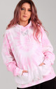 Baby Pink Oversized Hoodie with Holographic Glitter Butterfly by LimeBlonde
