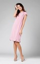 Midi Dress with Frill at Bottom in Powder Pink by By Ooh La La