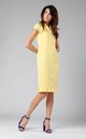 Midi Dress with Frill at Bottom in Yellow by By Ooh La La