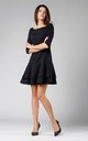 Shift Mini Dress with Layers in Black by By Ooh La La