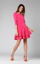 Shift Mini Dress with Layers in Pink by By Ooh La La