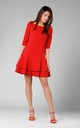 Shift Mini Dress with Layers in Red by By Ooh La La