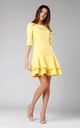 Shift Mini Dress with Layers in Yellow by By Ooh La La