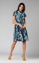 Flared Shirt Dress in Green Floral Print by By Ooh La La