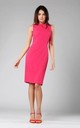 Pink Sleeveless Pencil Dress with Bow by By Ooh La La