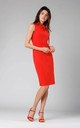 Red Sleeveless Pencil Dress with Bow by By Ooh La La