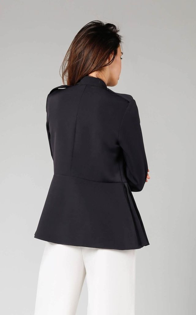 Elegant Shirt with Flared Bottom in Black by By Ooh La La
