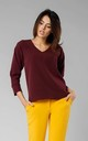 Elegant Shirt with Flared Bottom in Maroon by By Ooh La La
