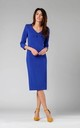 Midi Pencil Dress with V-Neck in Blue by By Ooh La La