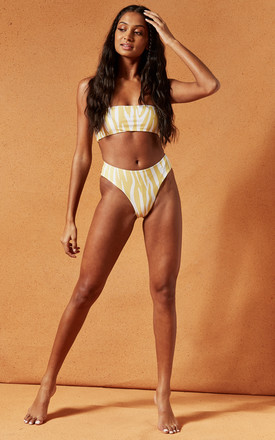 TALLY Bikini Bottoms in Yellow Zebra by Charlie Holiday