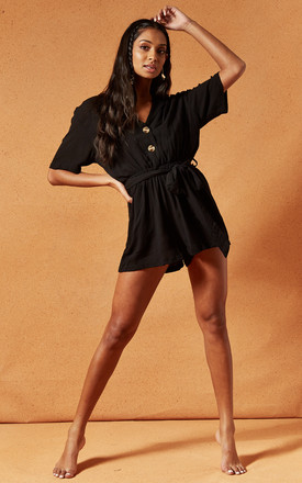 Tarrow Playsuit In Black by Charlie Holiday Product photo