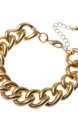 Classic Chunky Gold Chain Bracelet by Olivia Divine Jewellery