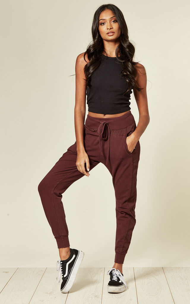 The Ultimate Joggers in Bordeaux Red by Suzy D