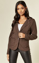 Jersey Blazer in Brown by Suzy D