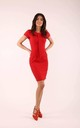 Pencil Dress with Tie in Red by By Ooh La La