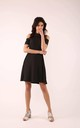 Flared Dress with Bare Shoulders in Black by By Ooh La La