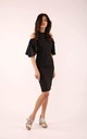 Wedding Guest Dress with Bare Shoulders in Black by By Ooh La La