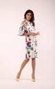 Wedding Guest Dress with Bare Shoulders in White Floral Print by By Ooh La La