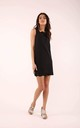 Black Sleeveless Mini Dress with Lace at Neckline by By Ooh La La