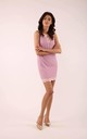 Pink Sleeveless Mini Dress with Lace at Neckline by By Ooh La La