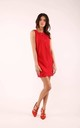 Red Sleeveless Mini Dress with Lace at Neckline by By Ooh La La