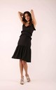 Flared Dress with Frill in Black by By Ooh La La
