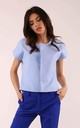 Jacket with Short Sleeve in Blue by By Ooh La La