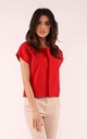 Jacket with Short Sleeve in Red by By Ooh La La