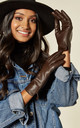 Brown Real Leather Gloves | Touch Screen Friendly by BARNEYS ORIGINALS