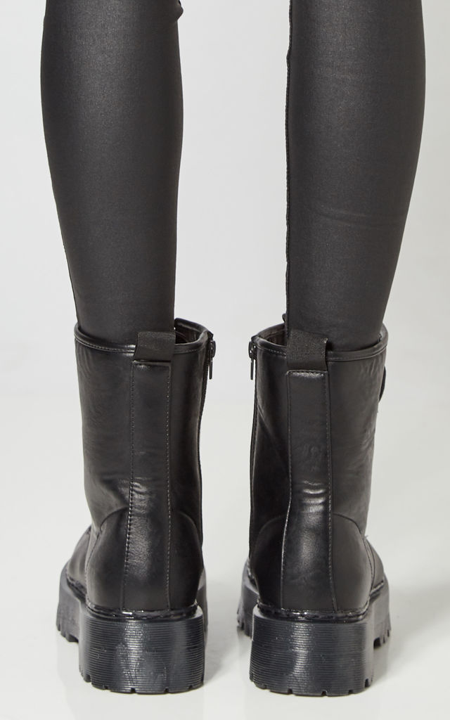 Black Platform Lace Up Boots by Truffle Collection