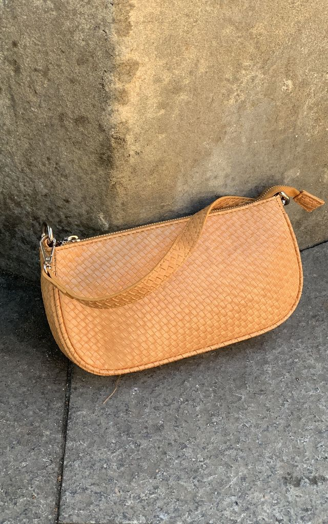 Weave Shoulder Bag in Tan by Unscripted