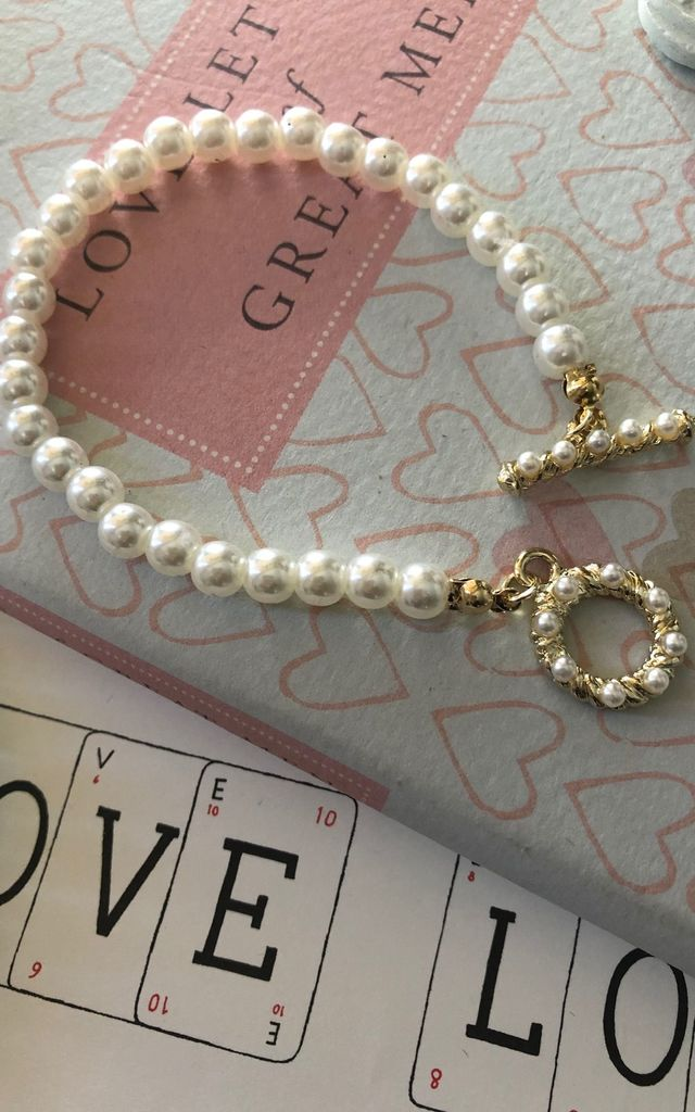 kitty Pearl bracelet by It's Me Not You