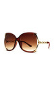 CHERRY OVERSIZED SUNGLASSES IN BROWN by Ruby Rocks Sunglasses
