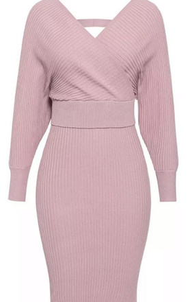 Pink Ribbed Co-Ord | Top & Skirt by Luxy Boutique
