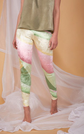 Ve Ve High Waist Velour Leggings In Patisserie Print by COCOOVE Product photo