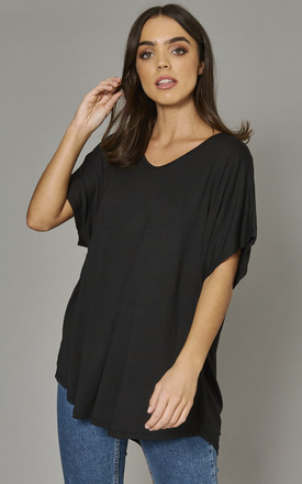 Aiyla Basic Oversized Tshirt In Black by Blue Vanilla Product photo
