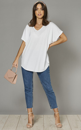 Aiyla Basic Oversized Tshirt In White by Blue Vanilla Product photo