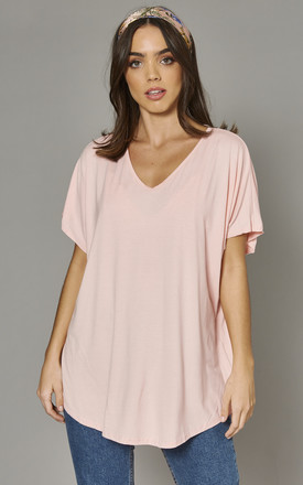 Aiyla Basic Oversized Tshirt In Pink by Blue Vanilla Product photo