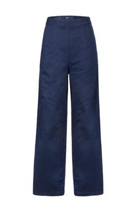 Kelly petite navy wide-leg trousers by Kintsugi Clothing