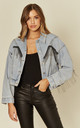 Jeanne - Light denim jacket with fringe by Goldie